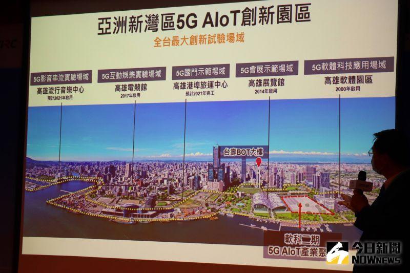 ▲高雄市副市長羅達生介紹亞洲新灣區5G