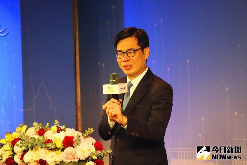 ▲高雄市長陳其邁感謝廠商看好高雄、投資高雄。(圖/記者鄭婷襄攝)