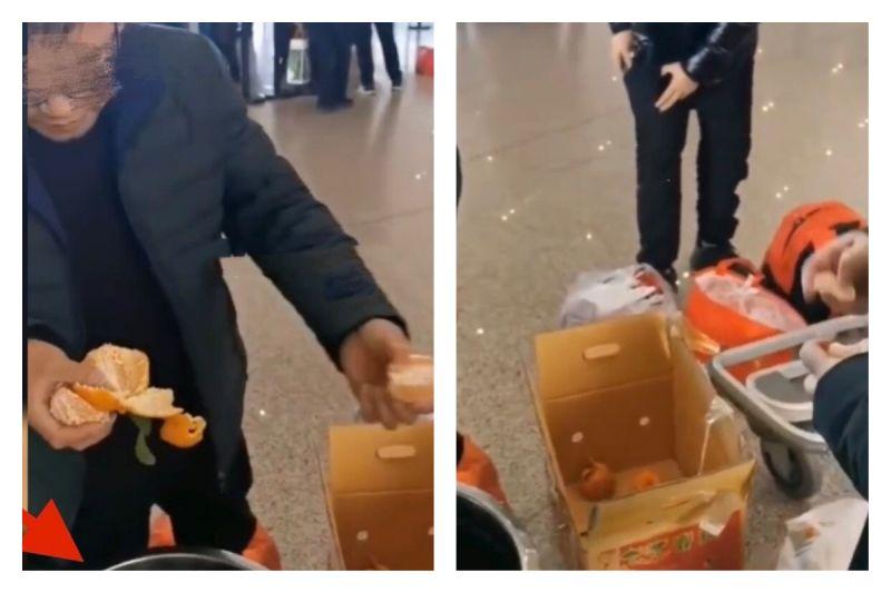 不想繳<b>託運</b>費!4男登機前猛吃「60斤橘子」 後悔下場曝