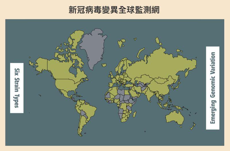 ▲中研院團隊設立網站,即時監測世界各國正在發生的新興病毒變異,發現需要密切注意的變異株時,盡速提供資訊給各個病毒傳播研究與疫苗研發單位。(圖/研之有物)