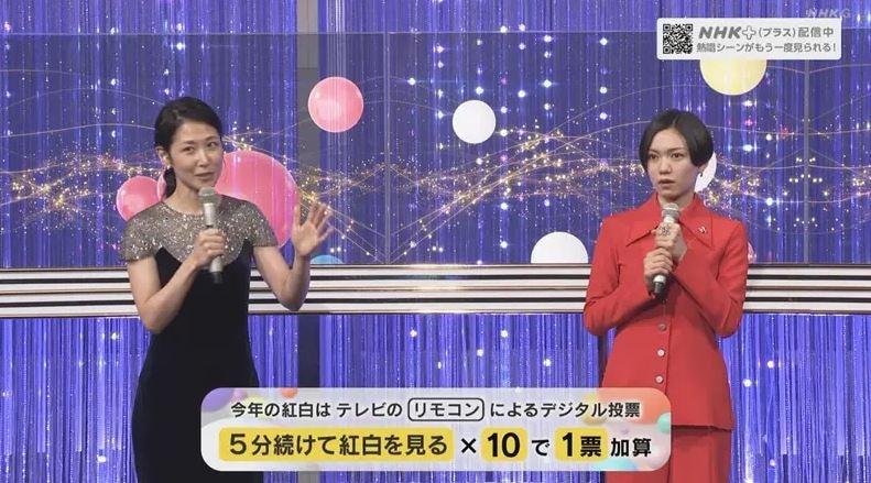 ▲桑子真帆(左)曾主持《紅白歌唱大賽》。(圖/翻攝NHK