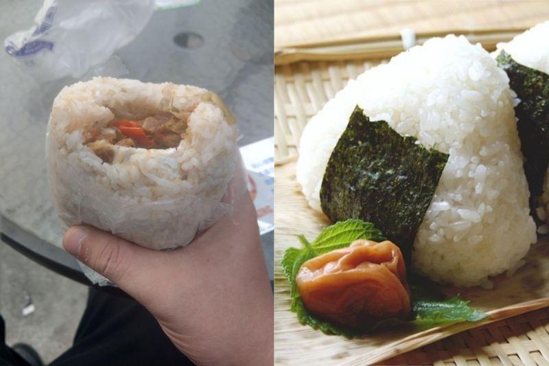 ▲有網友好奇詢問,「傳統飯糰是不是屌打超商飯糰?」(示意圖/取自《PTT》及《photoAC》)