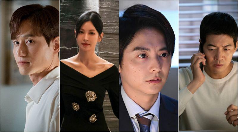 ▲朴海俊(左起)、金素妍、小池徹平、李相侖都在戲劇中飾演出軌渣男渣女角色。(圖/翻攝JTBC、SBS、YTV)