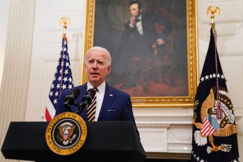 美國總統拜登/Biden/Joe Biden/後面那是林肯嗎