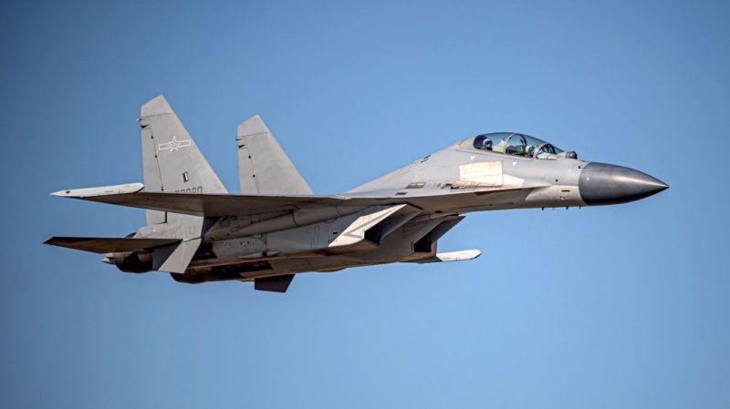 ▲國防部證實,今(20)日共軍出動5架次殲16(J-16)戰機擾台。(圖/空軍司令部提供)