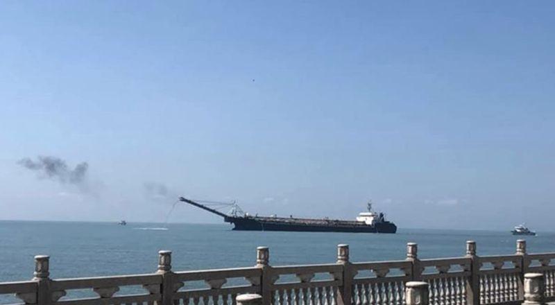 日本媒體:中國船集結馬祖列島盜採海砂