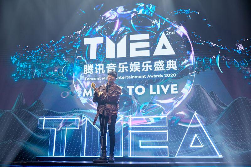 ▲林俊傑在「TMEA娛樂音樂盛典」上拿下3項大獎。(圖/騰訊提供)