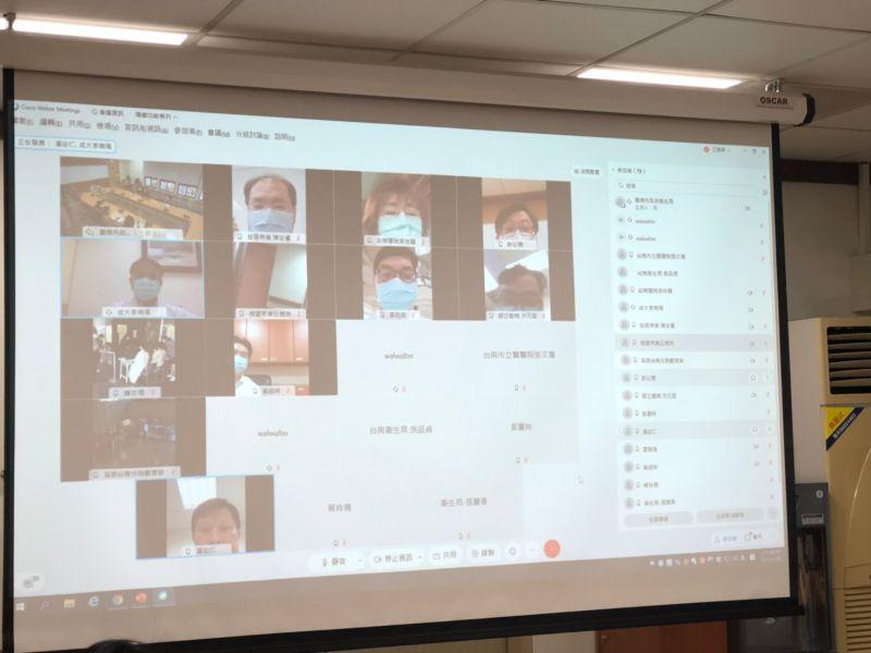 ▲台南市長黃偉哲表示,今日上午已經跟台南市各個醫院的院長跟感染科的主任視訊。(圖/台南市政府提供)