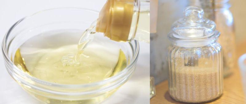 ▲《小乾倩倩的美食》教學,「等到魚皮水分晾乾後,就可以抹上一層白醋,再灑上一些白糖」,讓魚皮較不易剝落。(圖/翻攝PhotoAC)