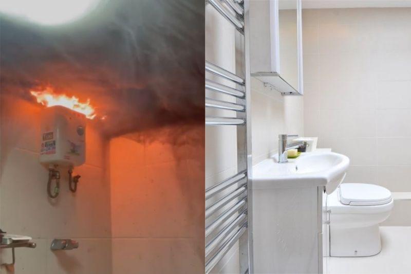 ▲有網友在租屋處時,突然聽到浴室傳出怪聲響,沒想到是熱水器燒了起來。(示意圖/翻攝自《爆廢公社二館》及《pixabay》 )