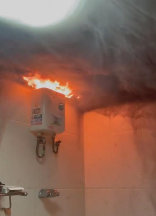 ▲原PO解釋,並非是熱水器故障,而是當初接的線就有問題,才會導致熱水器燒壞冒火(圖/翻攝自《爆廢公社二館》