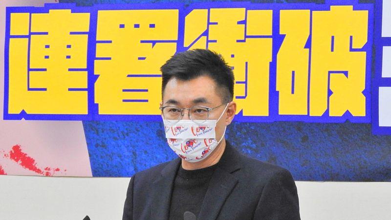 國民黨主席江啟臣27日在中常會上呼籲蔡政府,中央與地方應該一起面對危機,而非盡是指責、清算舊帳。(圖/記者陳弘志攝,2021.1.27)