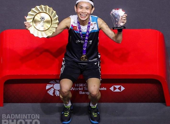 ▲戴資穎成功復仇馬琳,奪下生涯第3座年終賽冠軍。(圖/Badminton