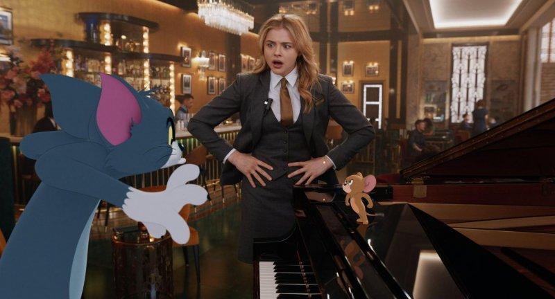 ▲克蘿伊摩蕾茲(中)和湯姆貓、傑利鼠有多場「對手戲」。(圖/劇照)