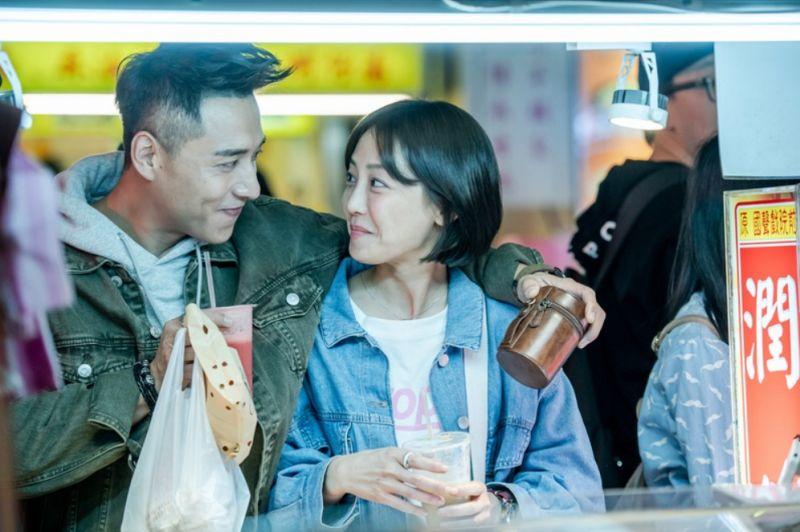 ▲鄭人碩(左)和謝欣穎在片中演戀人。(圖/劇照)