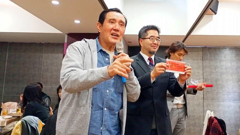 對於趙少康有意參選國民黨主席,前主席馬英九2日表示,依據黨章和黨主席選舉辦法規定,並沒有入黨一年的限制,他認為應該按照規矩來。(圖/記者陳弘志攝,2021.2.2)