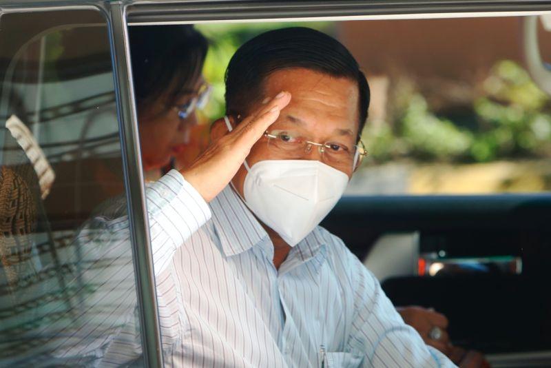 ▲緬甸軍事政變領袖、武裝部隊總司令敏昂來(圖/美聯社/達志影像)