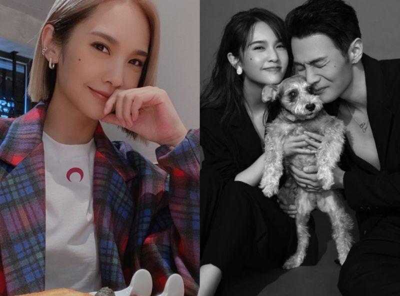 ▲楊丞琳(左圖、右圖左)在微博發文,提到看老公李榮浩的表演10遍,甜蜜放閃。(圖/楊丞琳Instagram)