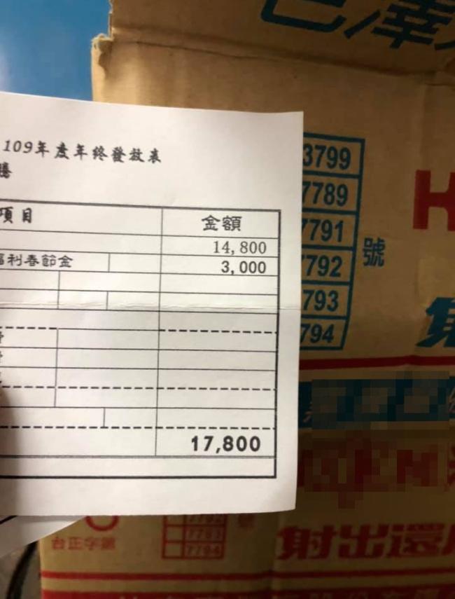 ▲原PO在公司年資有12年,但收到的年終獎金,卻讓他無奈大嘆「有人也這麼悲慘嗎?」(圖/翻攝爆怨公社臉書)