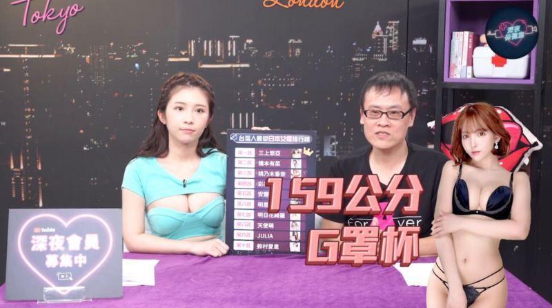▲雞排妹(左)、一劍浣春秋揭曉女優第一名三上悠亞。(圖/深夜保健室)