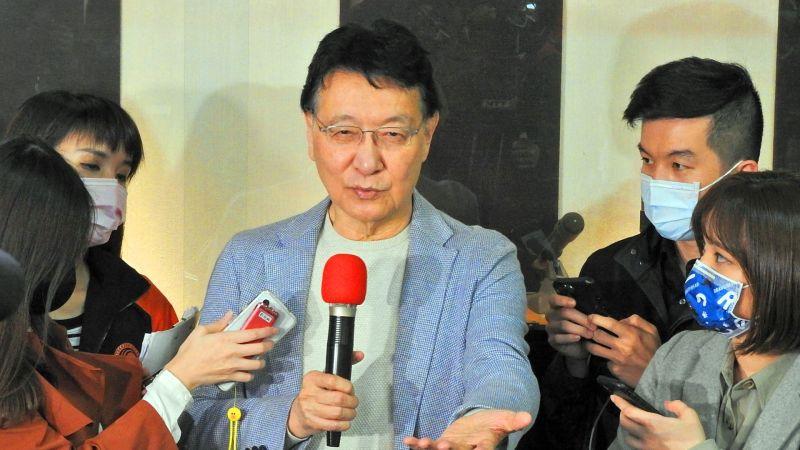 媒體人趙少康8日宣布爭取參選2024年總統,參選的原因是蔡英文總統做得太爛。(圖/記者陳弘志攝,2021.02.08)