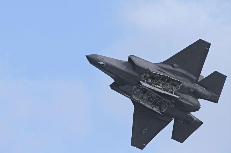 ▲F-35戰機在模擬戰中展現驚人戰力。(圖/美聯社/達志影像)
