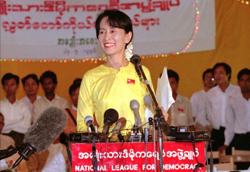 ▲翁山蘇姬是緬甸的國政顧問,也是民選政府實質領導人。(圖/美聯社/達志影像)