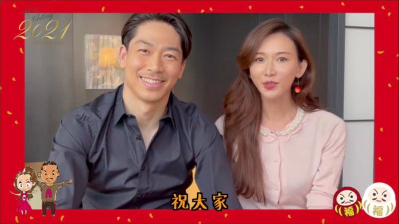 ▲林志玲(右)一身粉色洋裝看起來甜美又氣質。(圖/林志玲臉書)