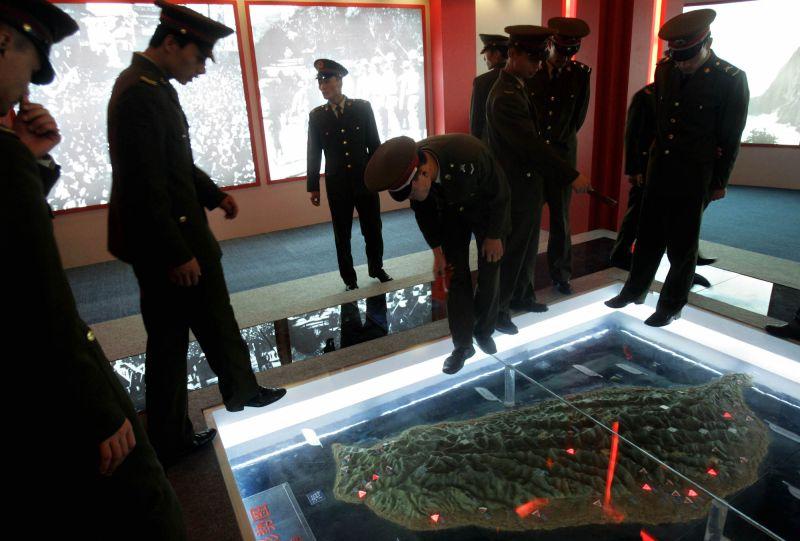 中國/解放軍/台灣地圖/北京抗日戰爭博物館