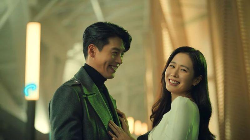 ▲玄彬(左)與孫藝真合體拍「情人節廣告」。(圖/翻攝Smart Communications YT)