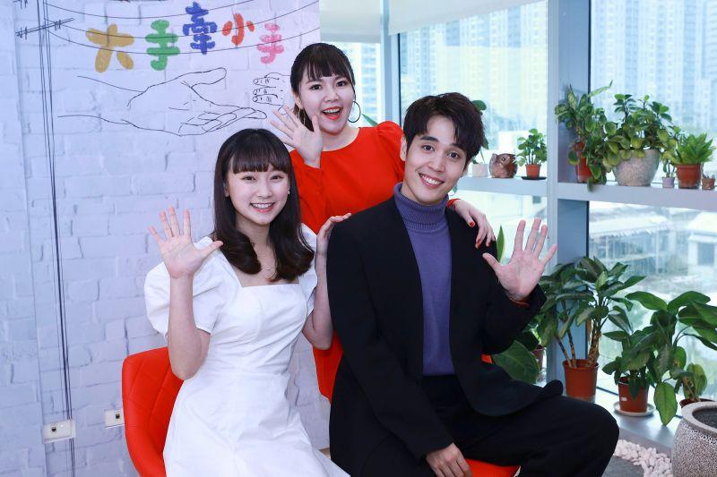 ▲吳鈺萱(左起)、林星慧、陳彥嘉出席節目記者會。(圖/民視)