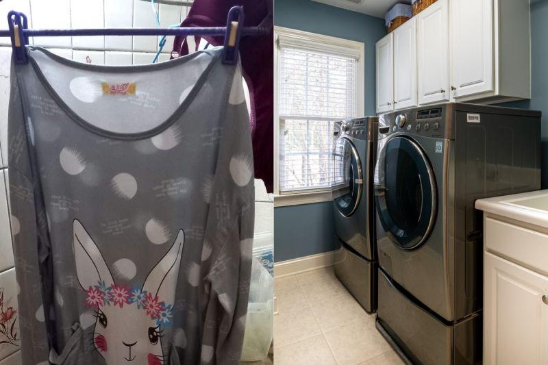 ▲有網友在家洗衣服時,意外發現一件陌生女子的睡衣。(示意圖/翻攝自《爆院2公社》及《pixabay》 )