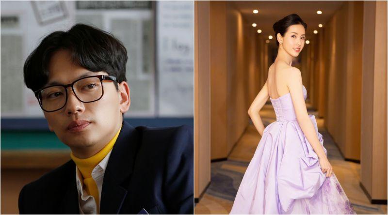 ▲李東輝(左)電影中娶大陸女星陳都靈,台詞90%以上都中文。(圖/翻攝tvN、陳都靈微博)