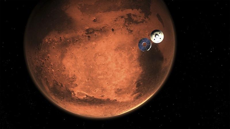 ▲耗時7個月探索火星,毅力號探測器將於當地時間18日降落火星表面。(圖/美聯社/達志影像)