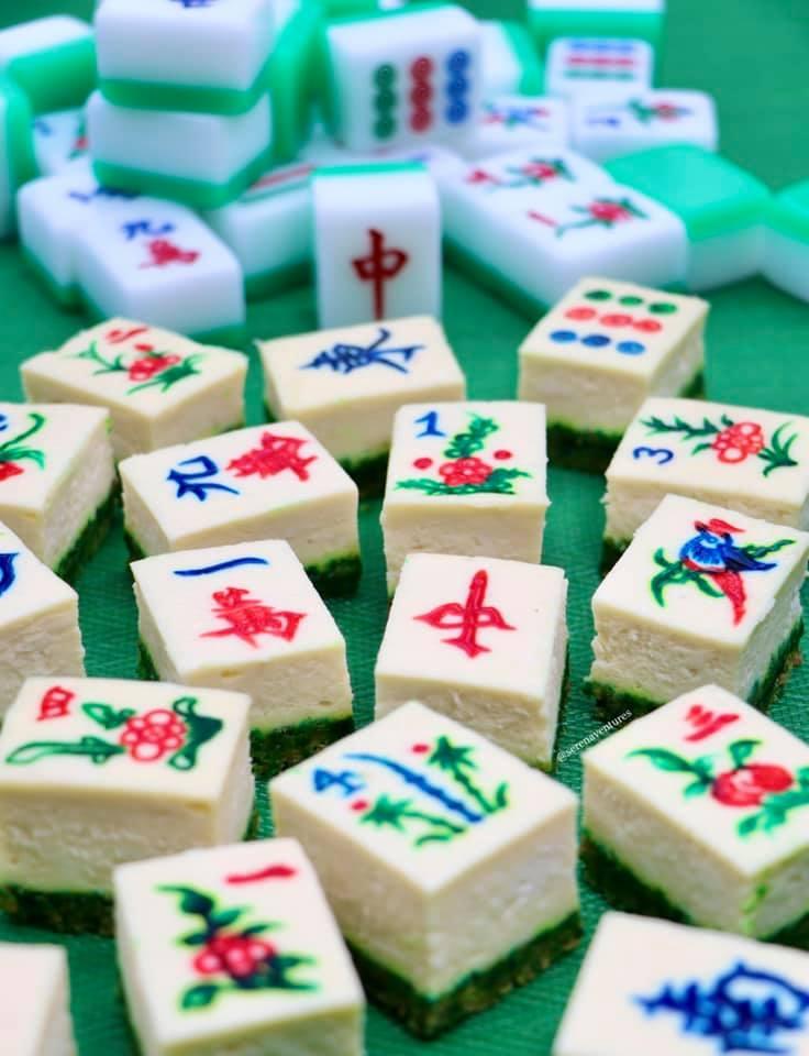 ▲美國加州一對姊妹日前製作「麻將起司蛋糕」,並附上食譜,引起廣大網友熱議。