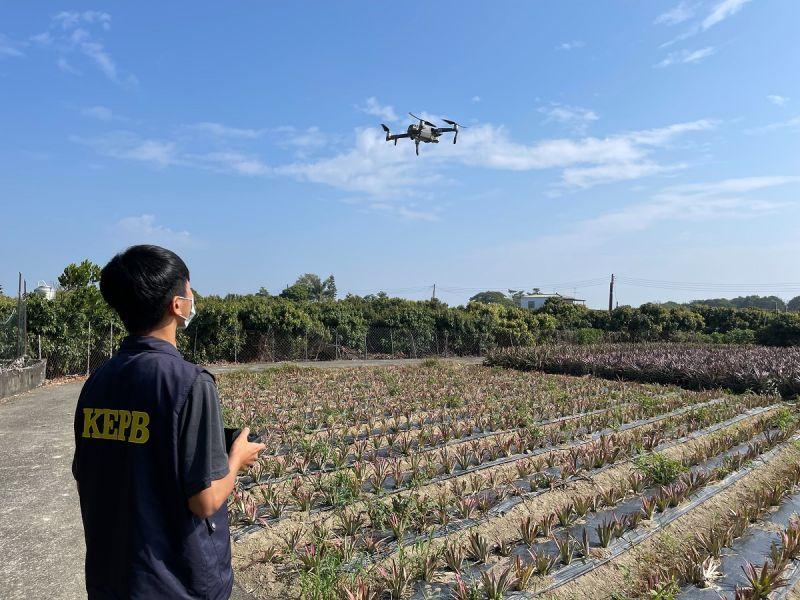 ▲環保局啟動無人機UAV巡查。(圖/高市環保局提供)