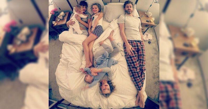▲英國最強老爸 Simon Hooper戳破大家對於養小孩的美好想像,貼出他在家照顧四個女兒,身兼各職的照片,引起網友熱議。(圖 @father_of_daughters/Instagram)