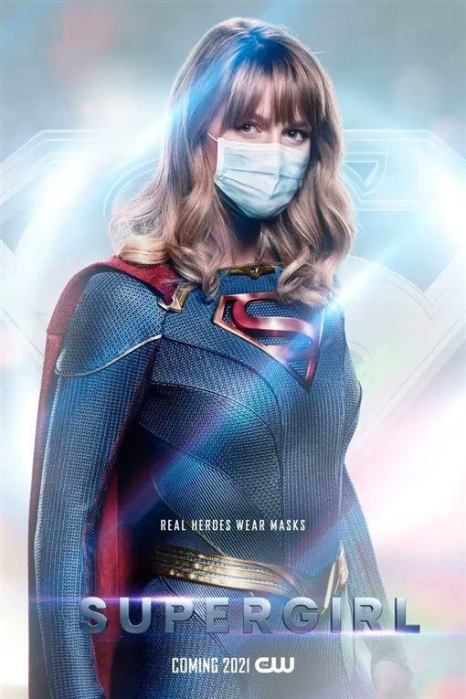 ▲▼DC超級英雄們全戴上口罩。(圖/CW推特)