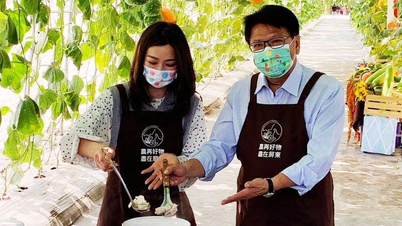 屏東熱博拚最後一週 潘孟安邀請屏東媳婦<b>邵庭</b>瓜棚下做菜