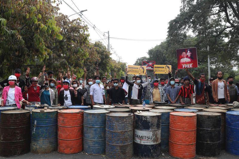 緬甸 軍事政變 示威