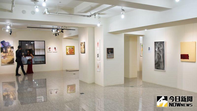 ▲臻藝術展出四位知名德國藝術家作品。(圖/記者陳美嘉攝,2021.02.20)