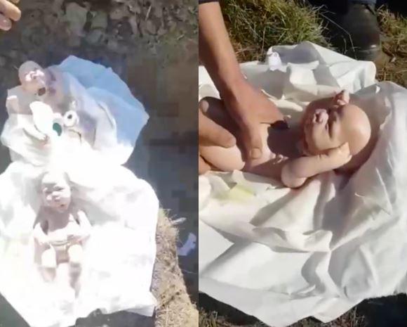 ▲達烏德在孩子喪禮時掀開白布,發現裡面都是洋娃娃,才知道自己被妻子騙了。(圖/翻攝自《agendaromano》推特)