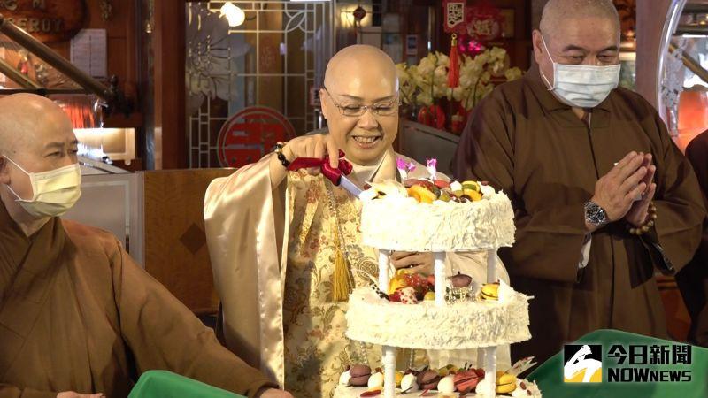 ▲恆述法師在71歲生日宣布創教。(圖/記者朱永強攝)