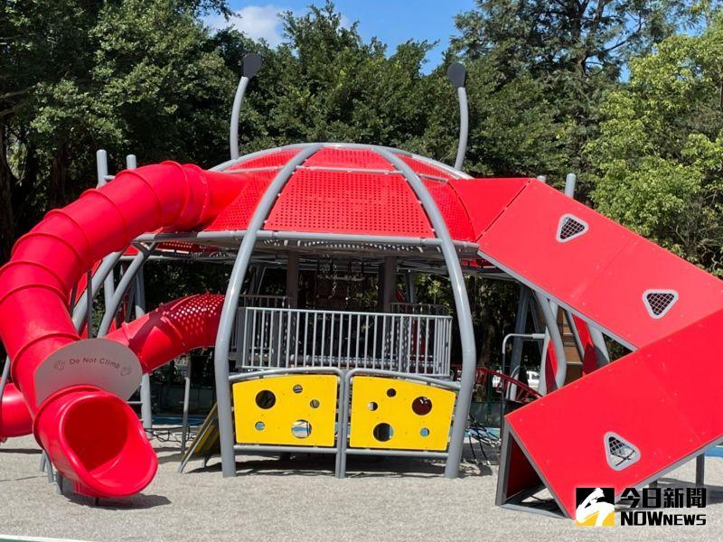 環河公園大改造 全國首座招潮蟹共融式遊具落腳板橋