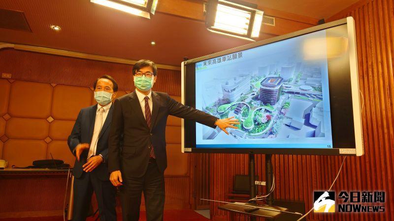 高雄市長陳其邁強調,對一個城市的發展跟思考,必須站在百年發展基礎。(圖/記者鄭婷襄攝,2021.02.23)