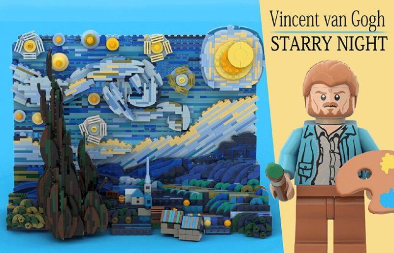 樂高版星夜 (圖|LEGO IDEAS)