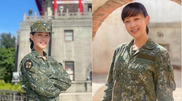 ▲23歲女少尉蔡佩璇,甜美長相引起網友關注。(圖/翻攝國軍《同袍儲蓄會粉絲團》)