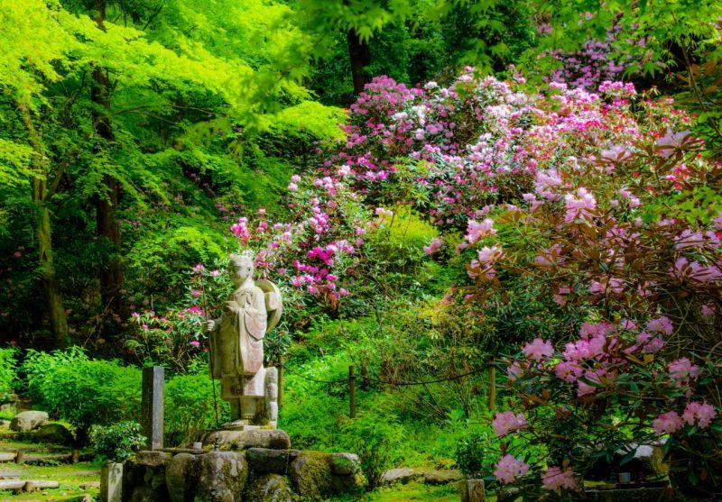 ▲岡寺主要供奉的如意輪觀音坐像高4.6公尺,是日本最大的塑像。(圖/資料照片)