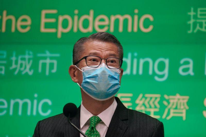 ▲香港財政司司長陳茂波(圖/美聯社/達志影像)