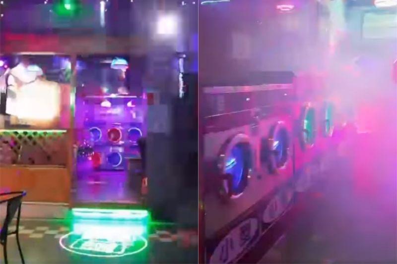 ▲洗衣機上安裝呼吸燈,隨著店內的音樂忽明忽暗。(圖/翻攝自《爆廢公社公開版》